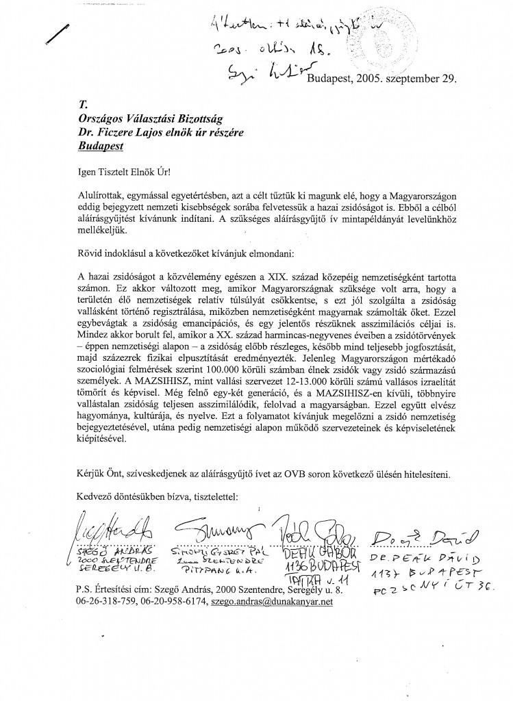 Eredeti beadvány az ÁB-hez 05.IX.29.